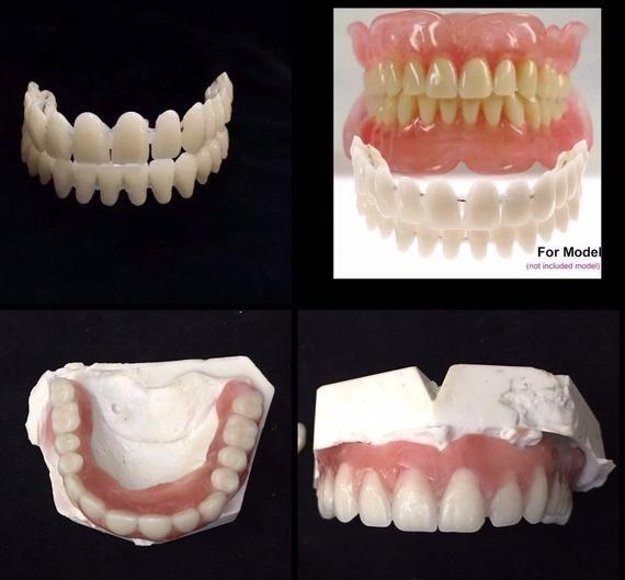 Diy Denture Kit Full Denture Replace Missing Teeth Acrylic Etsy In 2020 False Teeth Denture Full Set Acrylic