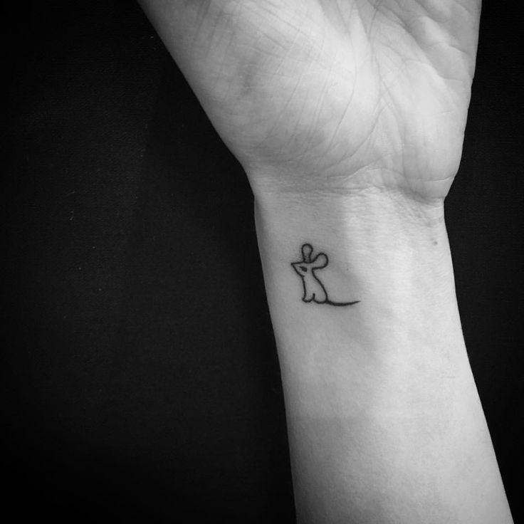 Little mouse tattoo tiny wrist tattoo