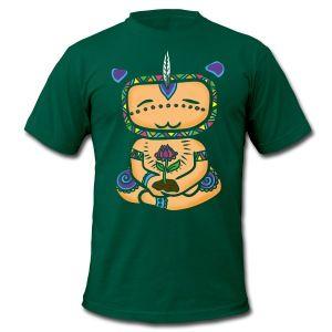 Skoggrønn  meditation avatar T-skjorter - T-skjorte for menn fra American Apparel