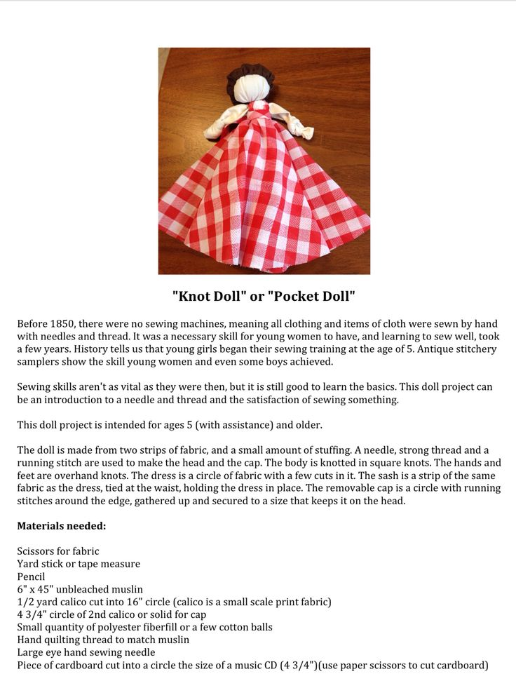 Knot Doll Detailed instructions page 1 of 5
