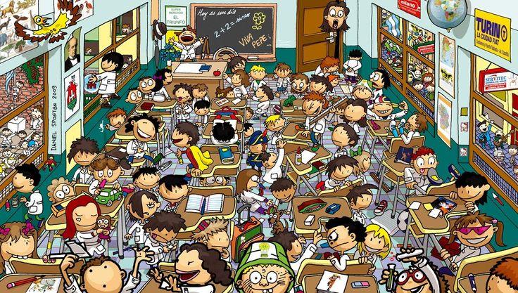 Muchos niños por clase II