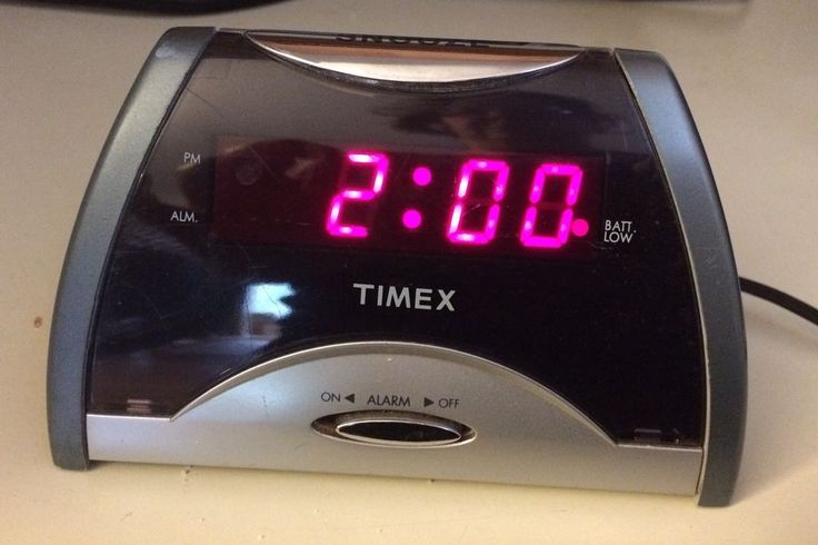 Timex Alarm Clock W/ Battery T107 Compact LED Display Snooze Button Travel #Timex
