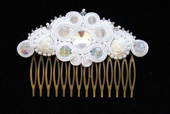 Wedding Headpiece Bridal Hair Piece Bridal Hair by rodicasoutache