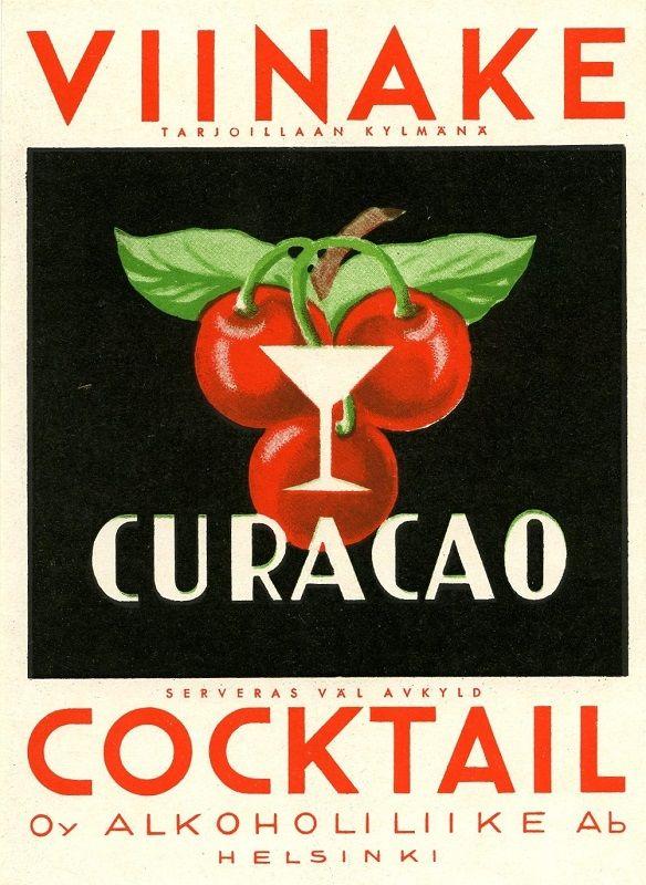 Oy Alkoholiliike Ab #alko #alkoholi #etiketit #labels #viinake #cocktail #curacao