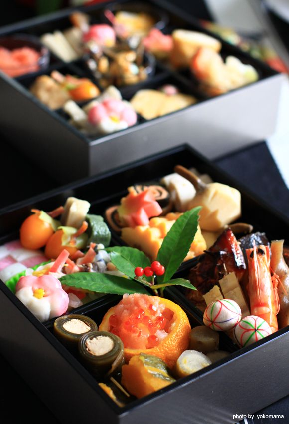 日本人のごはん/お弁当 Japanese meals/Bento おせち料理 traditional New Year's food/osechi
