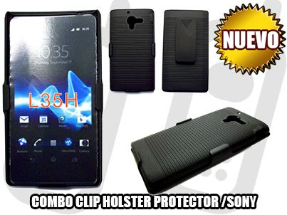 *NUEVO* - COMBO CLIP HOLSTER PROTECTOR PARA SONY XPERIA ZL [ L35H ] - SOLO EN MGWIRELESS!!! https://www.facebook.com/mgwirelesstj