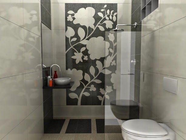 kumpulan gambar desain kamar mandi ukuran kecil sederhana mewah kering bagus dengan gaya wc jongkok yang minimalis