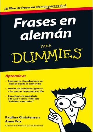 Frases en alemán para dummies paulina christensen