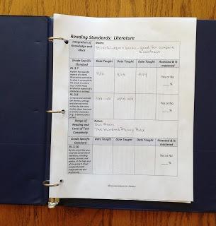 Lesson Plan and Common Core Organization:  Common Core Standards Binder for organization