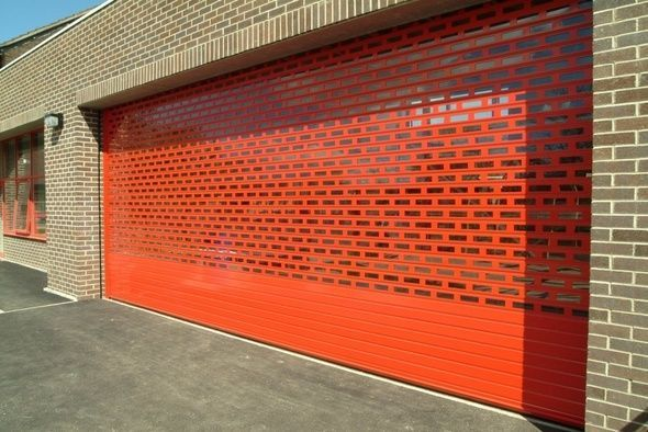 perforated industrial roller shutters | Coworking | Pinterest
