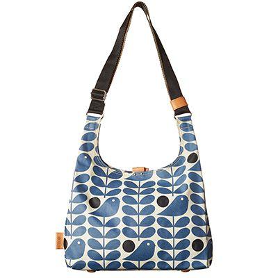 Orla Kiely | USA | bags | Stem bags | Early Bird Print Midi Sling Bag (16PEELB044) | prussian blue