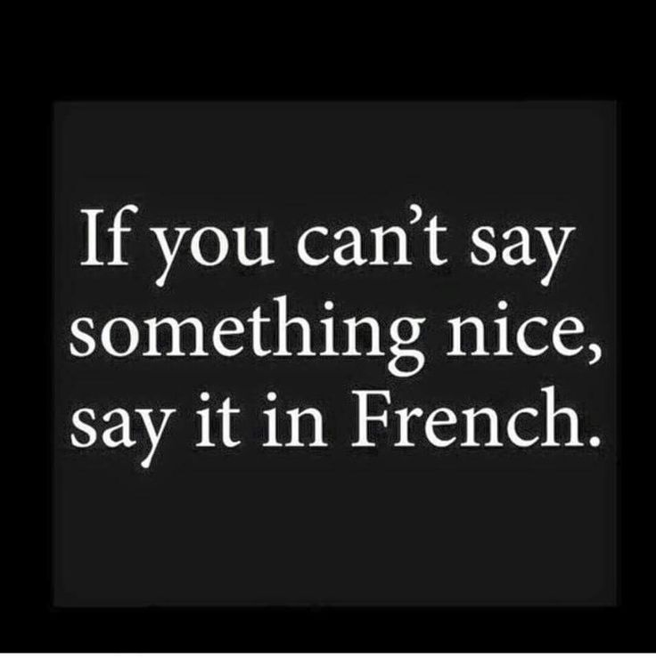 In French .