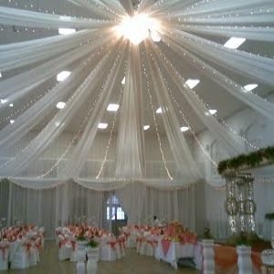 using gossamer to decorate ceiling for wedding - Google Search