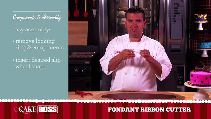 Shaping strips of fondant to make bows or decorative borders is #EasyAsCake. Watch Buddy Valastro, the Cake Boss, demonstrate how with the Cake Boss Fondant Ribbon Cutter. #BadaBing