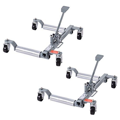 "Goplus Set of 2 Vehicle Positioning Car 10"" Wheel Dolly Moving Tire, 1250 Lb Capacity. For product info go to:  https://www.caraccessoriesonlinemarket.com/goplus-set-of-2-vehicle-positioning-car-10-wheel-dolly-moving-tire-1250-lb-capacity/"