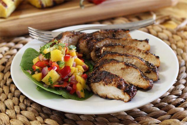 Paleo Jerk Chicken with Pineapple-Mango Salsa Recipe