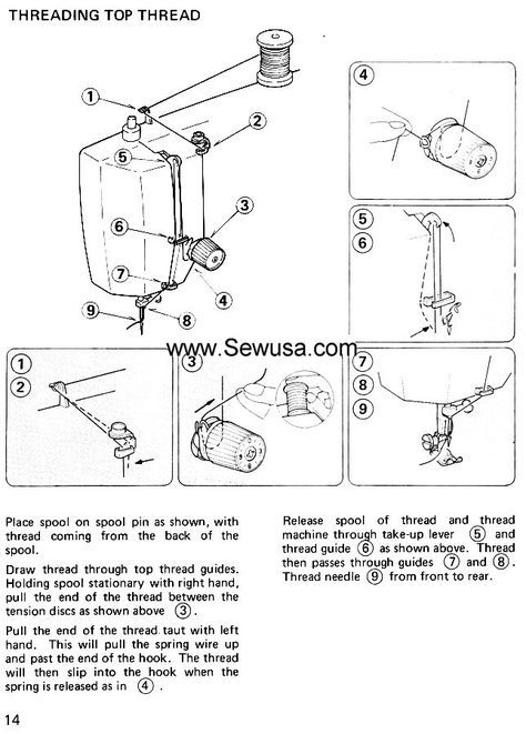 Owner's Manual For Kenmore Sewing Machine Sewing Information Beauteous How To Thread A Vintage Kenmore Sewing Machine