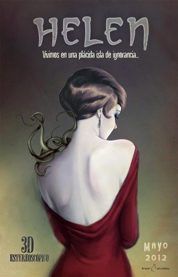 """Poster. Helen. Corto  """"Helen"""" de Age of Madness. Colaboración"""