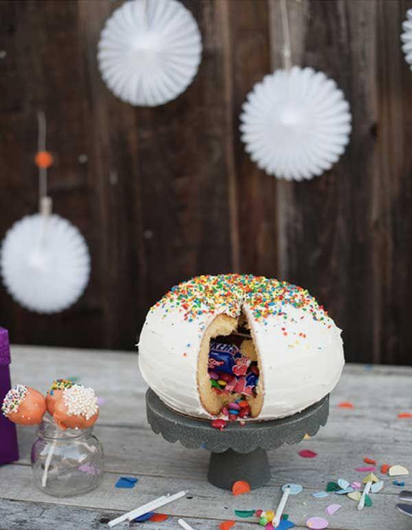 Tartas de cumpleaños: Cómo hacer una tarta piñata
