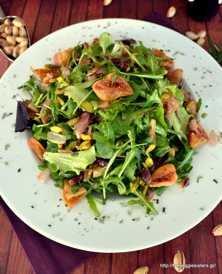 green dried figs pistachio  salad