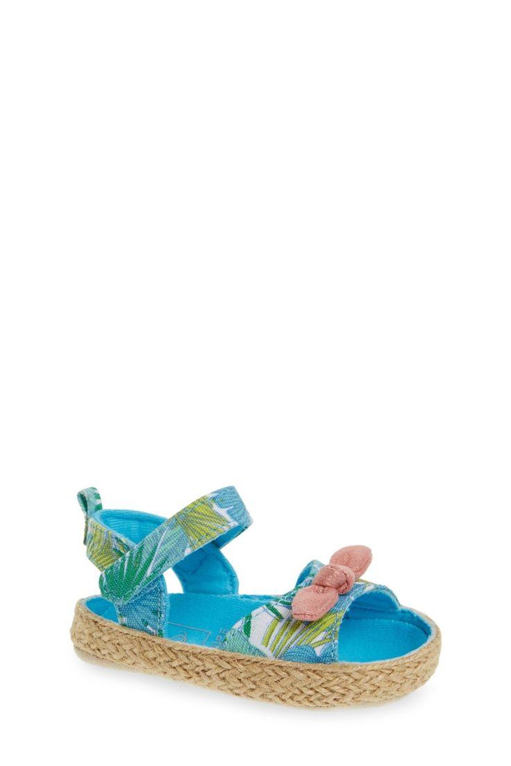Tropical Sandal Crib Shoe (Baby Girls)