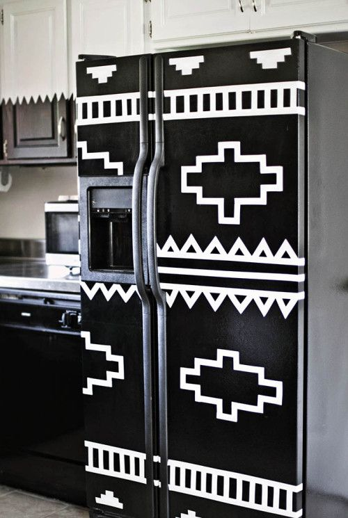 DIY your refrigerator with electrical tape  | A Beautiful Mess