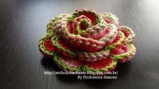 flores tejidas a crochet paso a paso en español - YouTube