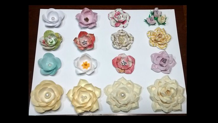 Hello everyone, here I show you how to make easy paper flowers using circles. You don't need to buy punches or special papers, just use your scraps. I hope y...