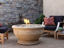 Loving the Artisan Fire Bowls as much as we are? It seems these days that artisan products are popping up everywhere. There's a trend of going back to handcrafted, unique items. Eldorado Outdoor recognized this desire and is now offering Artisan Fire Bowls made of glass-fiber reinforced concrete. Want to make it burn visit EasyFirePits.com for 316 Stainless Steel fire pit gas rings and gas connection kits for a safe and quick conversion!