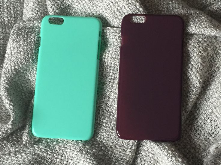 """DIY mint green or maroon  hard plastic case for iphone 6 plus.  5,5""""   2,10€"""