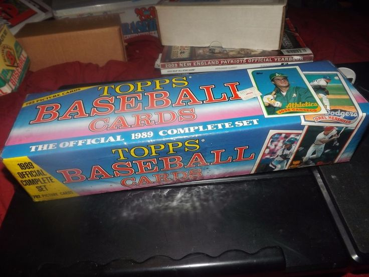 1989 TOPPS 792 OFFICIAL COMPLETE BASEBALL CARDS SET SEALED JOSE CANSECO LSB #Variety