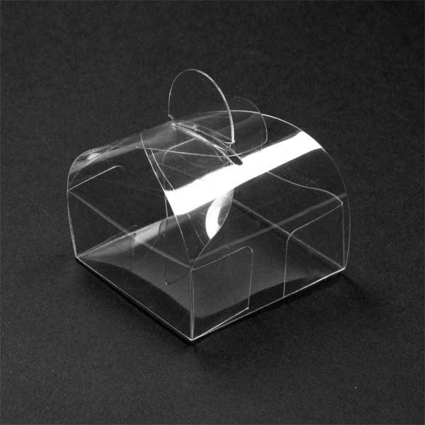0,28€ Caja acetato transparente automontable 8x8x8 cms. tipo tartera.