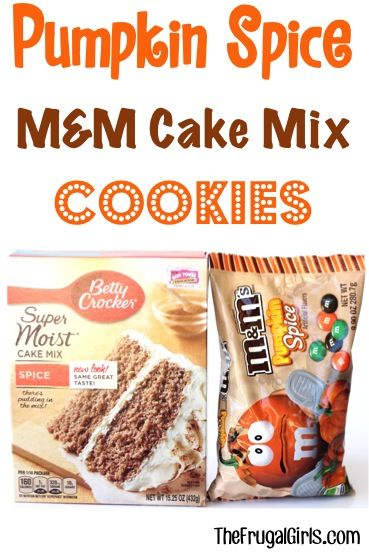 Pumpkin Spice M&M Cake Mix Cookie Recipe! ~ from TheFrugalGirls.com ~ capture the flavors of Fall with just a few ingredients in the easy, delicious recipe for cookies! #cakemix #recipes #thefrugalgirls