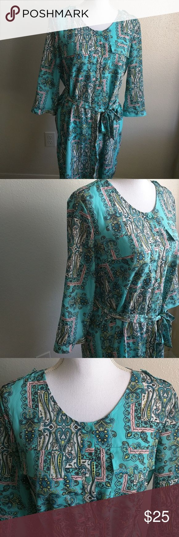 Moda internacional paisley dress 💙like new Moda internacional come from Victoria secret. Excellent condition no damage at all used only one time two pockets in the front bottoms in the front, 34 inches long. if you have any questions please let me know Moda International Dresses Midi