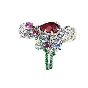 「ディオール」ヴェルサイユ宮殿の庭園が着想のハイジュエリー、瑞々しい草花をダイヤモンドやエメラルドで - 画像3
