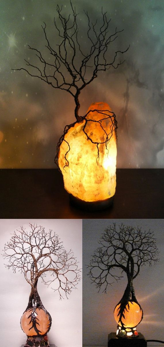 These gorgeous tree lamps are fantastical, if not the brightest option.