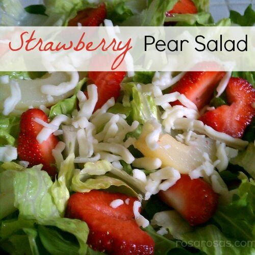 Strawberry Pear Salad | FOOD - Soups, Salads & Sandwiches | Pinterest ...