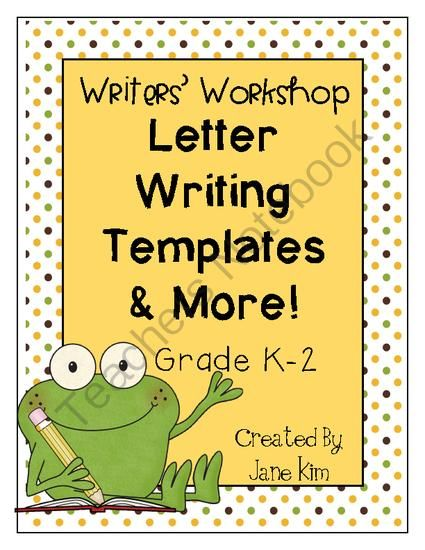 Writers Workshop: Letter Writing Templates & More-Grade 1 & 2 from Kim's Creations on TeachersNotebook.com -  (39 pages)  - Writers' Worshop, Letter Writing, Writing