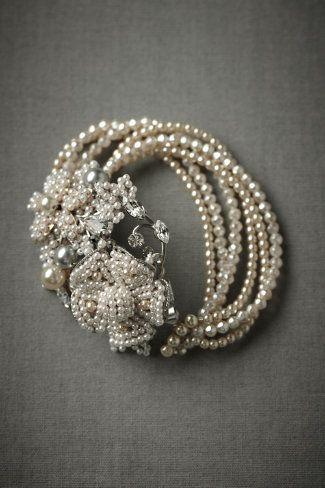 BHLDN Seafoam Pearl Bracelet