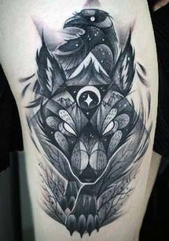 42+ Trendy tattoo wolf geometric ink awesome