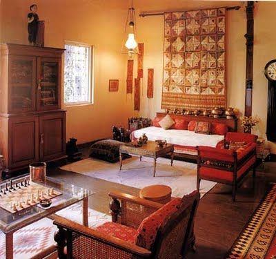 Interior design home design color decorating architect wall tapestry ethnic indian decor - Indian house interior design pictures ...