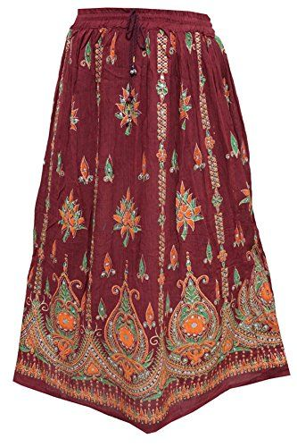 Womens Festive Skirt Maroon Sequins Ankle Length Crinkle ... https://www.amazon.ca/dp/B01N6XK7K3/ref=cm_sw_r_pi_dp_x_A1SNybSHNHYAP
