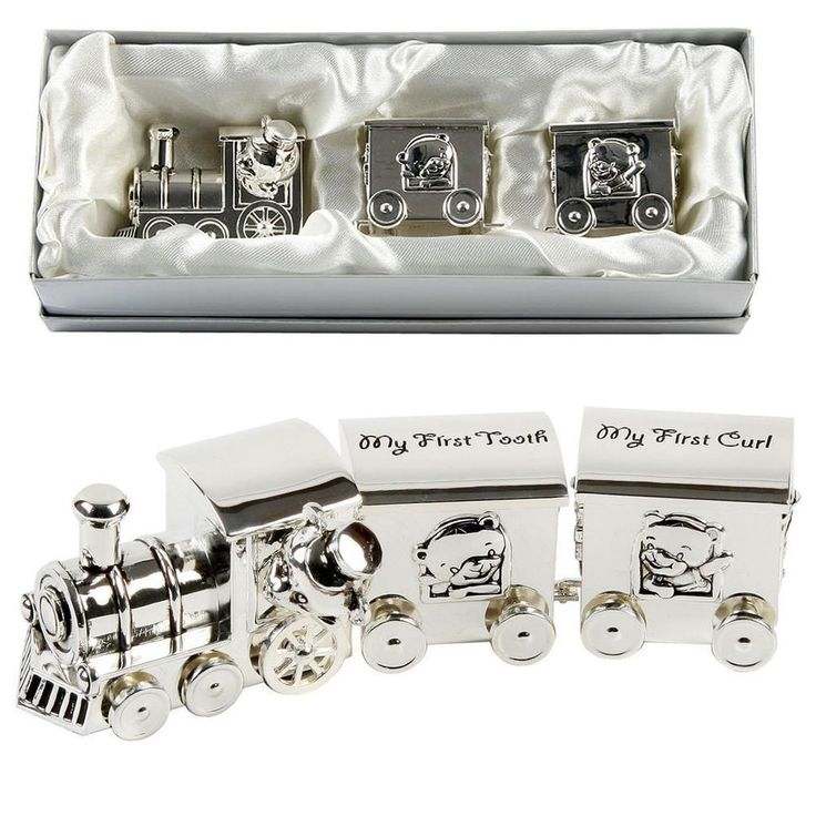 92 best christening new baby gifts images on pinterest silver silver plated first tooth curl set train two carriages christening gifts negle Gallery