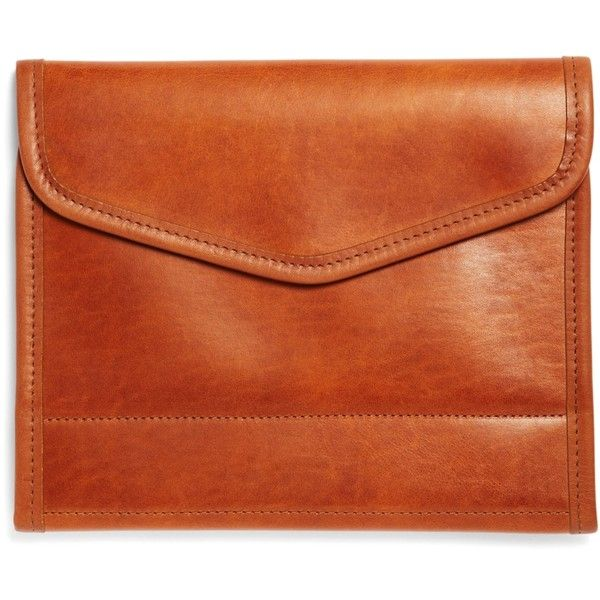 Brooks Brothers J.W. Hulme Leather Tablet and and Notebook Case (£235) ❤ liked on Polyvore featuring men's fashion, men's accessories, men's tech accessories, bags, saddle and mens leather accessories