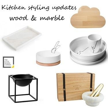 Wood and marble styling for the kitchen | The Little Design Corner