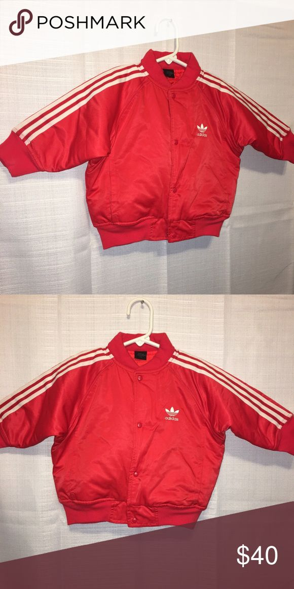 Adidas Originals baby boy Track jacket 18M Great condition baby boys infant 18M red Track jacket Adidas Jackets & Coats Puffers