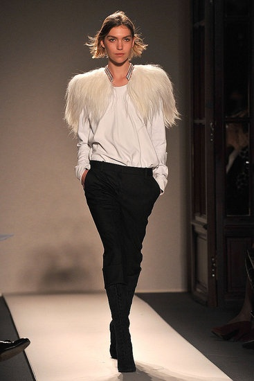 Balmain - Wishing I was cool/rich enough to wear a little furry bit on my shoulders like this.