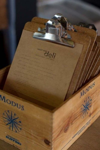 Menu holder ideas