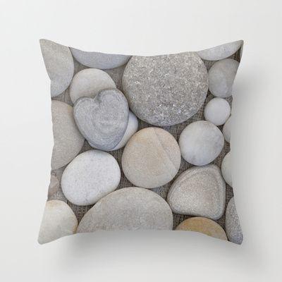 Stone Heart Throw Pillow by LebensART - $20.00