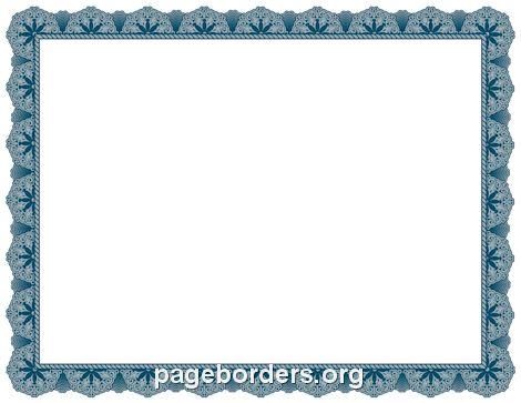 Blue Certificate Border